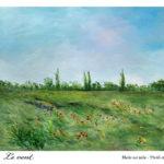 Le vent : vendu Huile sur toile 55x46cm