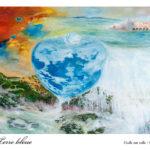 Terre bleue : Huile sur toile 92x66cm