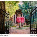 Jardin secret : Huile sur toile 81x66cm